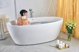 Freestanding Soaking Tubs Aquatica Sensuality Wht Freestanding Solid Surface Bathtub