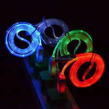 micro usb led light charger cable cord for samsung galaxy s7 s6
