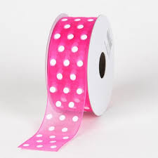 pink polka dot ribbon organza polka dot ribbon ribbons cheap