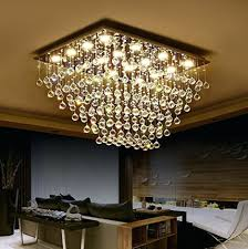 rectangular crystal chandelier dining room gallery with modern