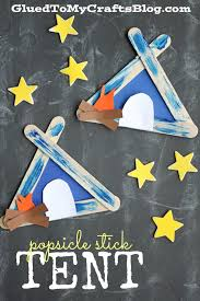 All Kids Crafts - popsicle stick tent kid craft summer boredom boredom busters