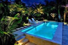 miami landscape lighting ideas pool tropical with light outdoor