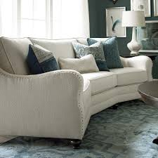 Thomasville Riviera Sofa by Curved Sofas Bassett Conversation Sofa For The Home