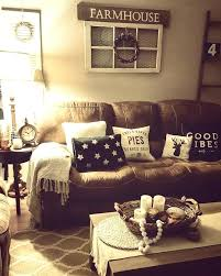 rustic living room furniture ideas with brown leather sofa brown couch living room living room rustic living room farmhouse