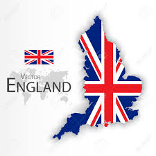 Great Britain Flag England Flag And Map United Kingdom Of Great Britain Combine