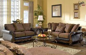 fabric living room sets likeable walnut living room furniture sets fabric and faux leather