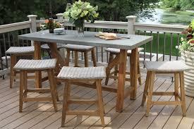 Composite Patio Table Teak Hardwood U0026 Ash Wicker Saddle Stool 2pk