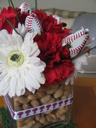 baseball wedding table decorations baseball centerpiece phillies ribbon peanut vase filler real