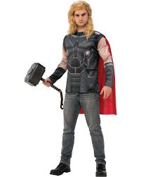 thor costume mens thor ragnarok shirt and cape costume ebay