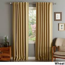 108 Inch Panel Curtains Aurora Home Solid Thermal Insulated 108 Inch Blackout Curtain