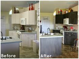 Painted Kitchen Cabinets Before And After by Chalk Painted Kitchen Cabinets Before And After Kitchen