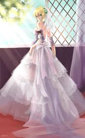 wedding dress anime saber by bzerox anime wedding dress fate wedding