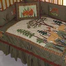 Baby Deer Crib Bedding Patch Magic Whitetail Deer 6 Crib Bedding Set