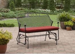 patio glider wrought iron metal bench outdoor furniture garden