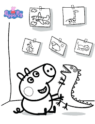 Peppa Pig Coloring Pages A4 Kids Colouring Printable Cartoon Colouring Pages