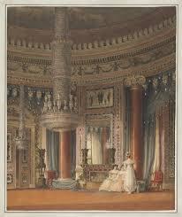Dining Room Columns Drawing The Circular Dining Room At Carlton House London 1819