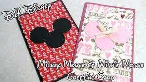 diy disney mickey mouse u0026 minnie mouse greeting card tutorial