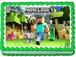 minecraft edible cake topper minecraft edible cake images