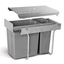recycle bin pull out kitchen waste bin 300mm 30 ltr jc 603