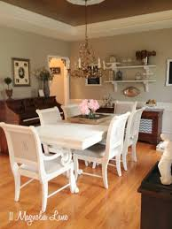 dining room sets white white chalk painted dining room table monogrammed chairs 11