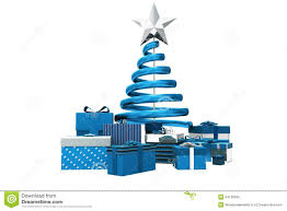Blue And Silver Christmas Tree - silver blue christmas tree and gifts stock vector image 21458624