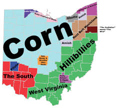 ohio on the map of usa judgmental map of ohio oc 2000x1838 ohio