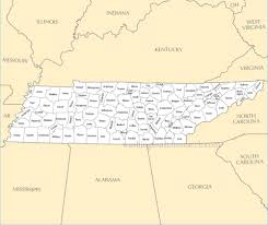 Map Of Tennessee Cities by A Large Detailed Tennessee State County Map