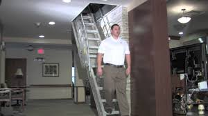 model staircase precision ladders automatic electric disappearing