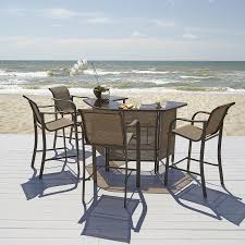 Outdoor Living Patio Furniture Grand Harbor Edgewater 4 Bar Chairs Outdoor Living Patio