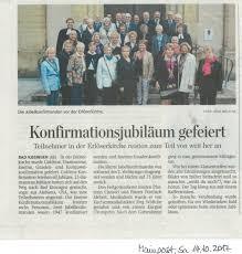 Rehaklinik Bad Bocklet Jubelkonfirmation 16 9 2018 Evangelisch Lutherische