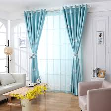 modele rideau chambre multiples couleurs motif floral pissenlit modèles porte fenêtre