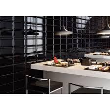 photo cuisine avec carrelage metro mural noir style matro salle de bain et galerie avec carrelage metro
