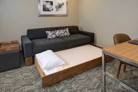 West Elm Sofa Bed by Relax On Our New West Elm Sofas Or Pull Out The Trundle Bed To