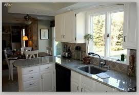 fabulous painting kitchen cabinets white with long kitchen island
