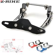 exes license plate frame motorcycle adjustable angle aluminum license number plate frame