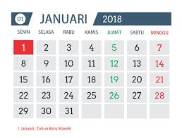 Kalender 2018 Hd Desain Template Kalender Tahun 2018 Asal Tau