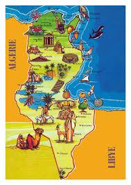 tunisia map large tourist illustrated map of tunisia tunisia africa