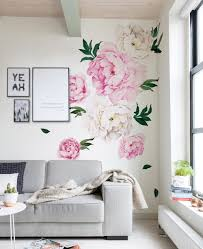 Watercolor Wallpaper For Walls by Peony Flowers Wall Sticker Watercolor Peony Wall Stickers Peel