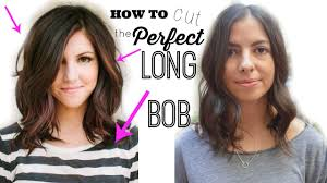 how to cut the perfect long bob