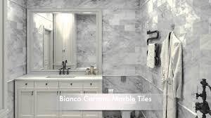 bathroom tile marble subway tile bathroom beveled subway tile