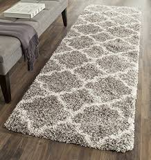 Plush Runner Rugs Safavieh Hudson Shag Collection Sgh282b Grey And Ivory