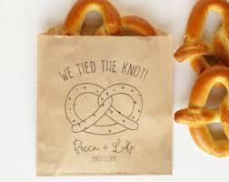 Pretzel Bags For Favors Pretzel Wedding Favor Bags We Tied The Knot Wedding Snack