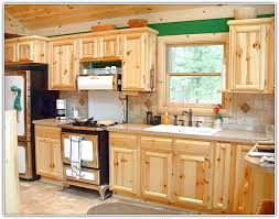 Kitchen Pine Cabinets Refinishing Knotty Pine Kitchen Cabinets Home Design Ideas