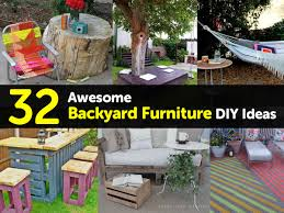32 awesome backyard furniture diy ideas