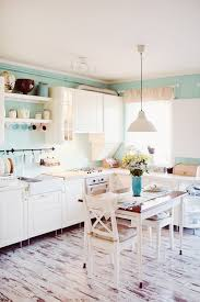 vintage kitchen mint green and white home decor gold details