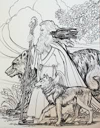 bear wolf wizard hiking companions by houseofchabrier deviantart
