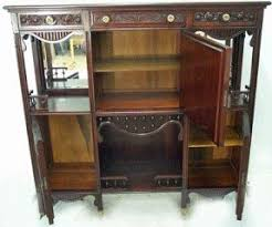 Antique Curio Cabinet With Desk Cherry Curio Cabinets Foter
