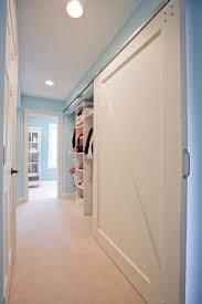 Wall Closet Doors Bypass Closet Doors Traditional With Barn Door Blue Paint