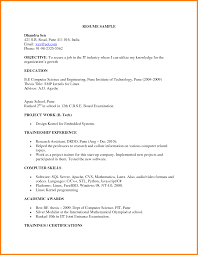 Best Resume Download For Fresher by Sample Resume For Freshers M Tech Templates