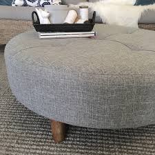 Grey Tufted Ottoman Round Ottoman Coffee Table Amiko A3 Home Solutions 19 Dec 17 23